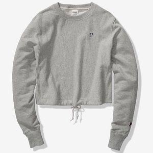Victoria's Secret PINK Cropped Sweatshirt.